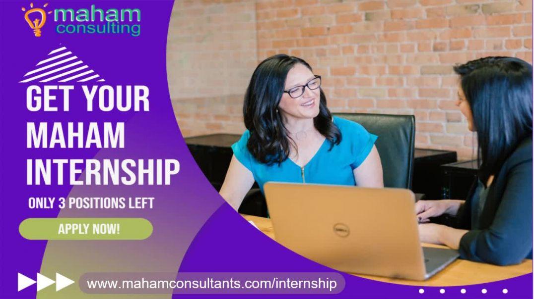 Internship At MAHAM